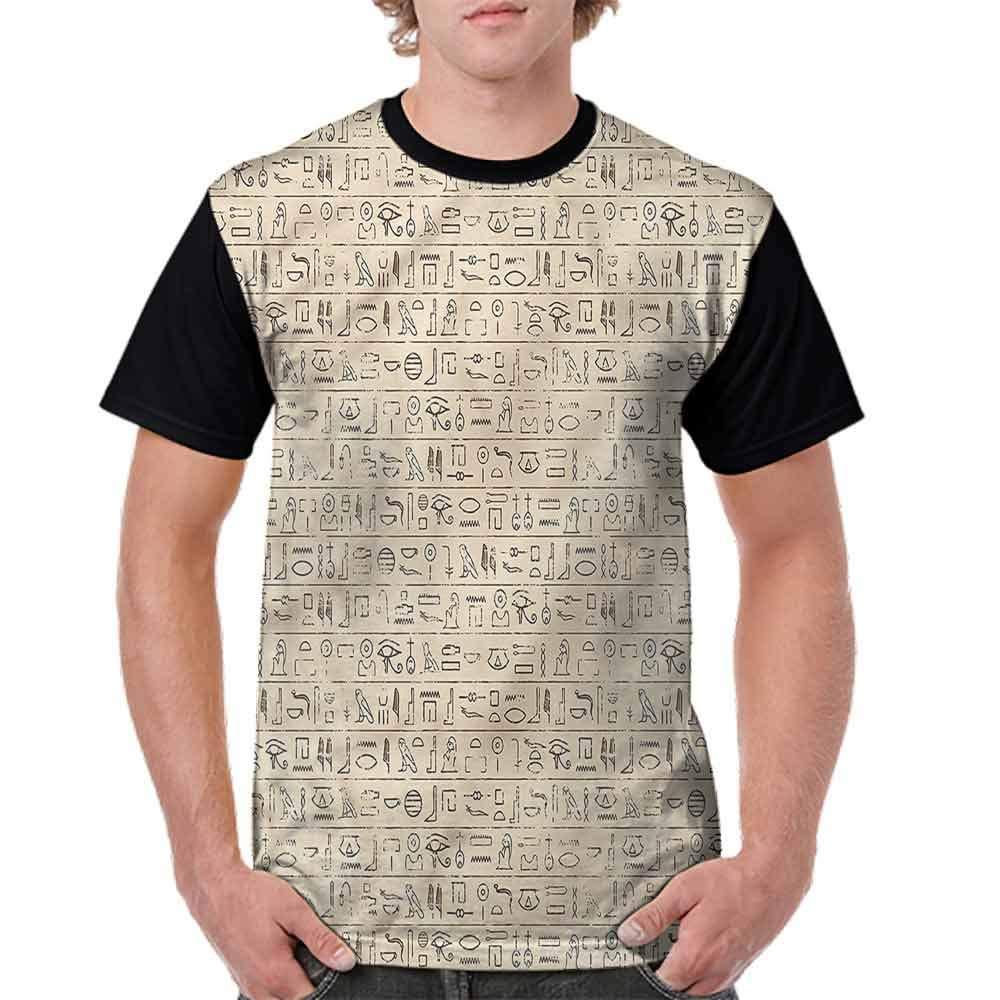 BlountDecor Performance T-Shirt,Dated Hieroglyphics Fashion Personality Customization