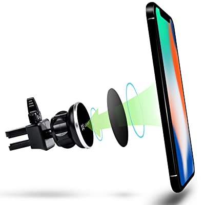Car Phone Mount, Vena [4Netic] Circle Magnetic Cellphone Car Mount, Universal Air Vent Holder for iPhone 11/11 Pro/11 Pro MAX/XR/SE2, Galaxy S20/S20+/Z Flip/S10 Plus/S10 and More - Black