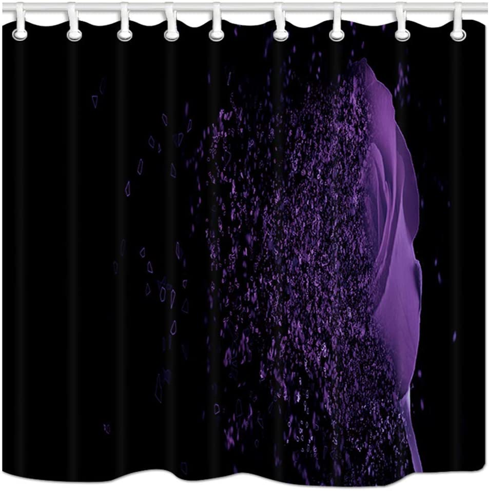 JoneAJ Cactus su Sfondo Rosa Motivo di Sfondo Tenda per Doccia Stampa 3D Bagno in Tessuto Poliestere spalmato Impermeabile con 12 Ganci 71 Pollici