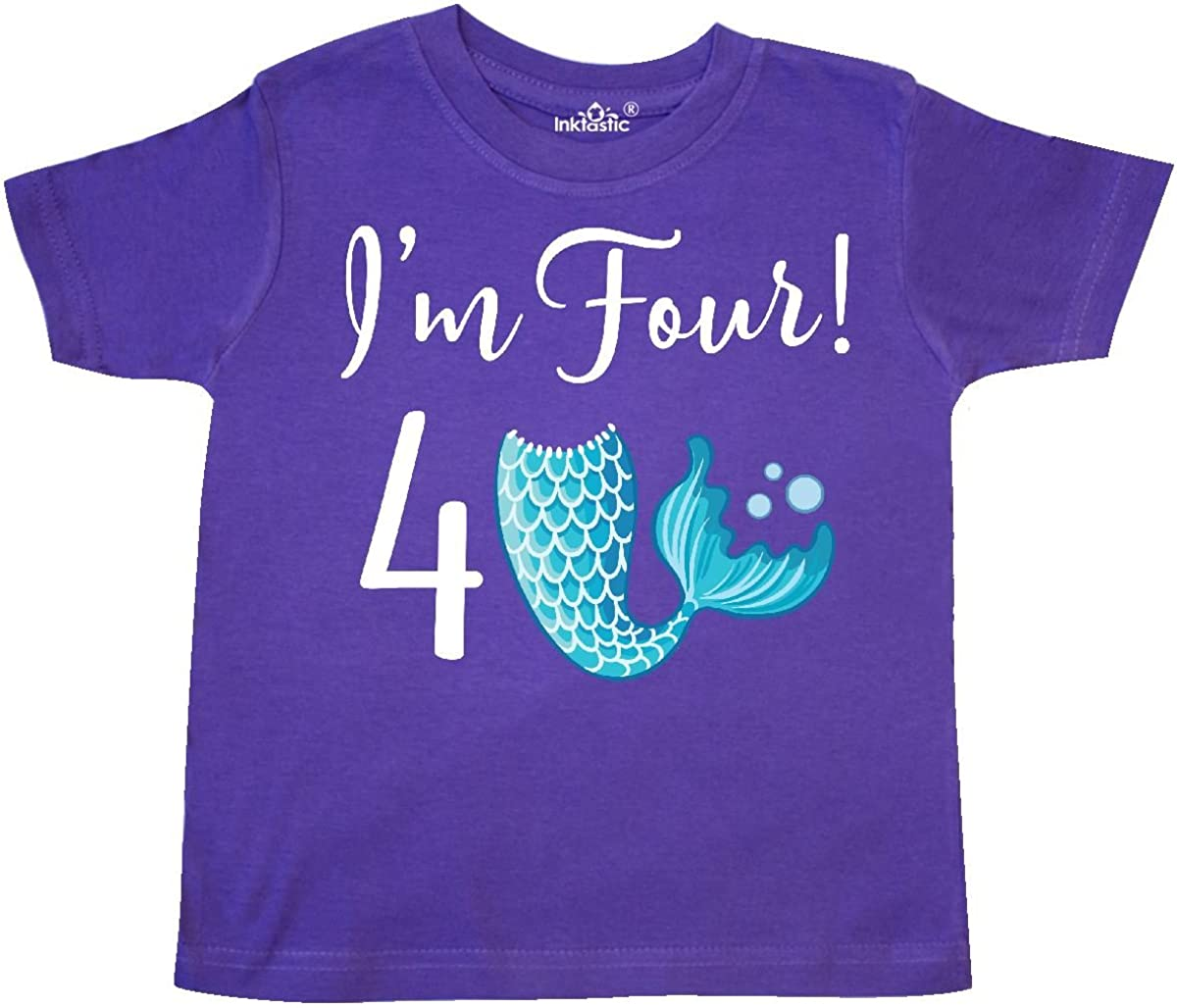 inktastic 4th Birthday Mermaid Party Toddler T-Shirt