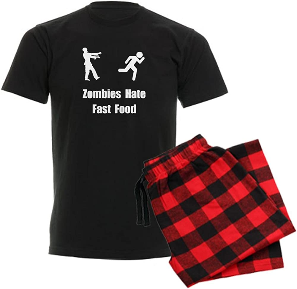 CafePress Zombies Hate Fast Food Men's Dark Pajama Set