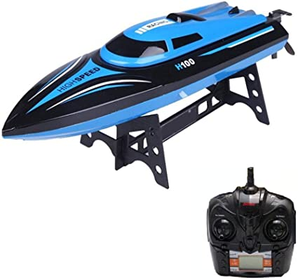 RC Boat 2.4GHz 4Ch Remote Control High Speed RC Racing Electric Boat Kids