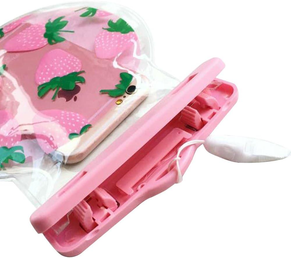 fraise rose SE ;id/éal pour natation 6 plus p/êche la randonn/ée 5s la plage Aohro Universel Etui Housse Pochette /étanche // Imperm/éable pour iPhone 6 6s 6s plus