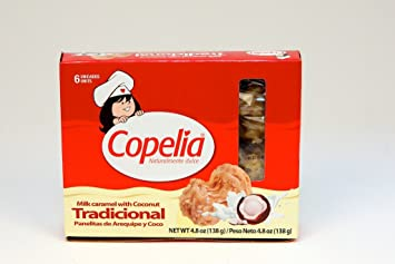 Copelia Milk Caramel With Coconut 6 Count - Cocadas De Panela Y Coco