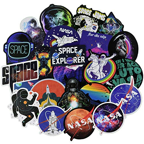 Astronomy Sticker - NASA Stickers for Water Bottle[100pcs] Space Explorer Galaxy Vinyl Decals for Laptop Phone Hydro Flask Car Computer Guitar Ceiling Wall Helmet Skateboard Luggage PC Journal Bike Bumper Waterproof