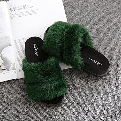 Fankou Autunno e Inverno pantofole home giovane anti-slittamento e camera da letto home cose carine da indossare uomini cotone pantofole estate femmina ,41, tacco alto nero clip per cintura