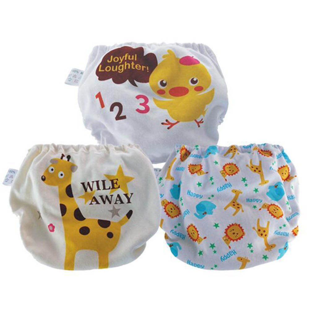 ARAUS Culotte d'apprentissage pour Bébé Fille Garçon Couches-Culottes Motif Animaux Lavable Etanche Lot de 3 1-5 Ans 7730P10
