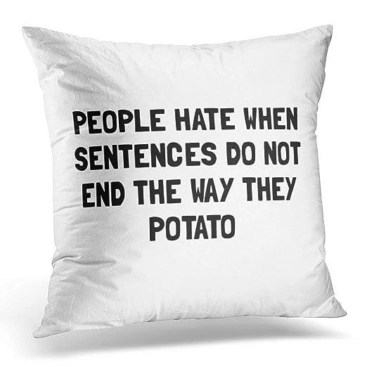 Funda de almohada divertida y humorística con diseño de ...
