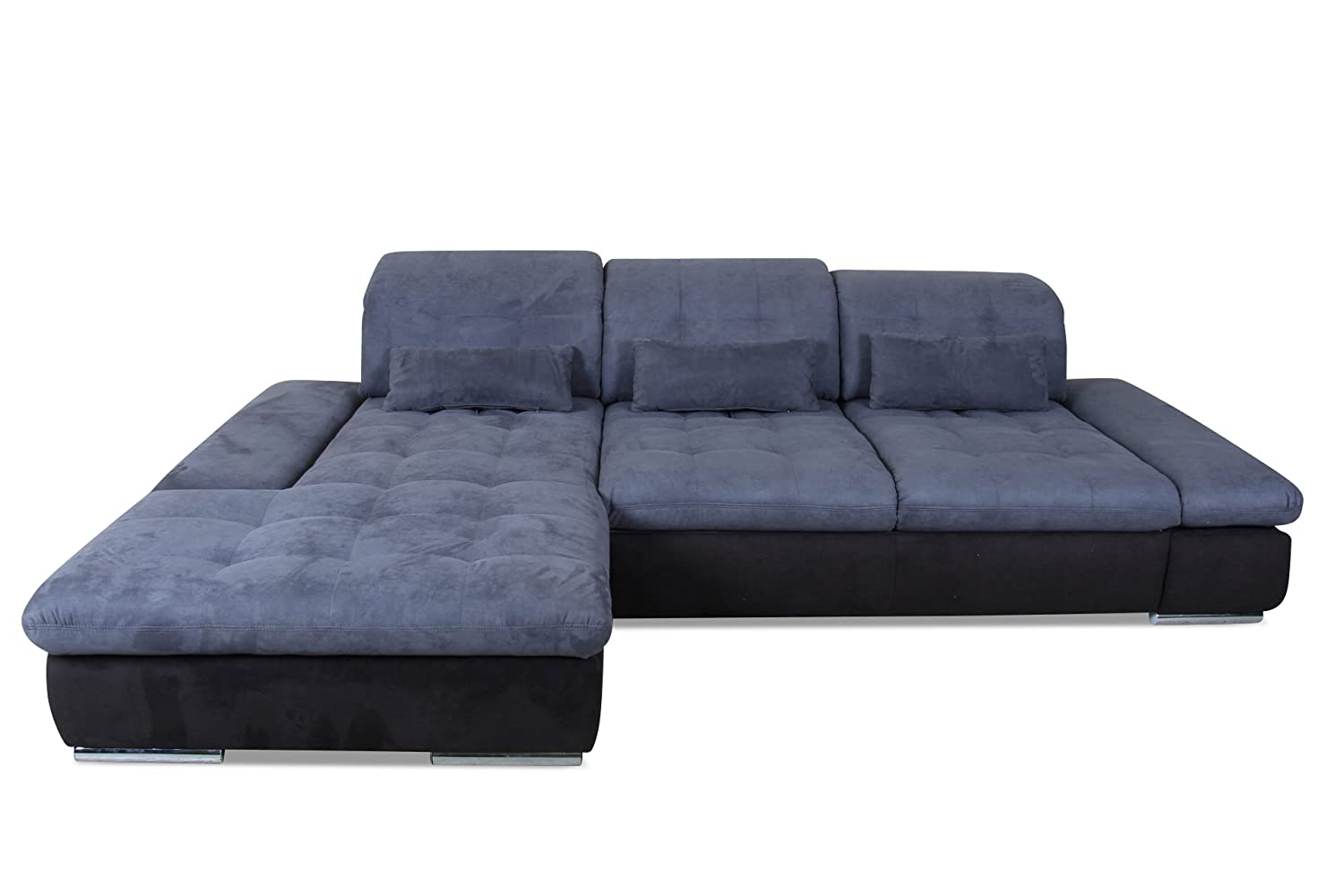sofa poco polsterecke santa fe luxus microfaser blau g nstig. Black Bedroom Furniture Sets. Home Design Ideas