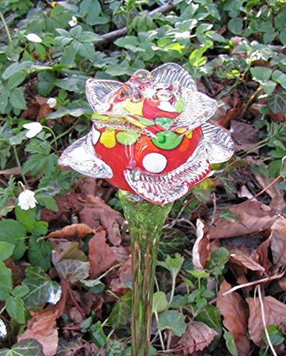 Edler Deko-Stecker Rose Glas Handarbeit Deko-Rose Deko-Blume Blumenstecker