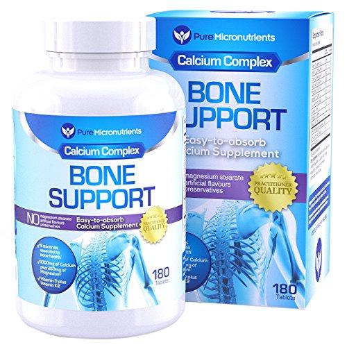 Prenatal Formula 180 Caps (Pure Micronutrients Calcium Supplement (Citrate & Hydroxyapatite 1000mg) for complete Bone Health + Magnesium, K2, Vitamin D3 & more, 180)