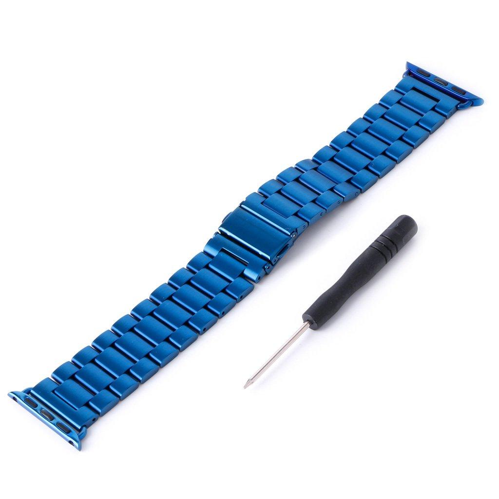 kocome 42 mm幅腕時計バンドステンレススチール腕時計ストラップfor Apple Watch  ブルー B0749KLXZX