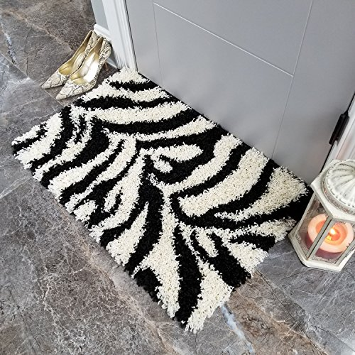 Maxy Home Bella Zebra 1 ft. 8 in. x 2 ft. 7 in. Shag for sale  Delivered anywhere in USA