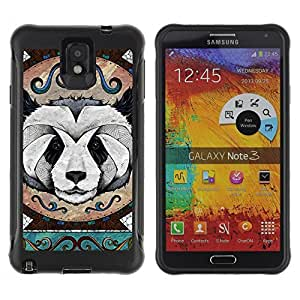 Hybrid Anti-Shock Defend Case for Samsung Galaxy Note 3 / Detailed Panda