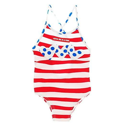 9d2b0aedd721e Amazon.com: Agatha Ruiz de la Prada Red White Striped Swimsuit (24 ...