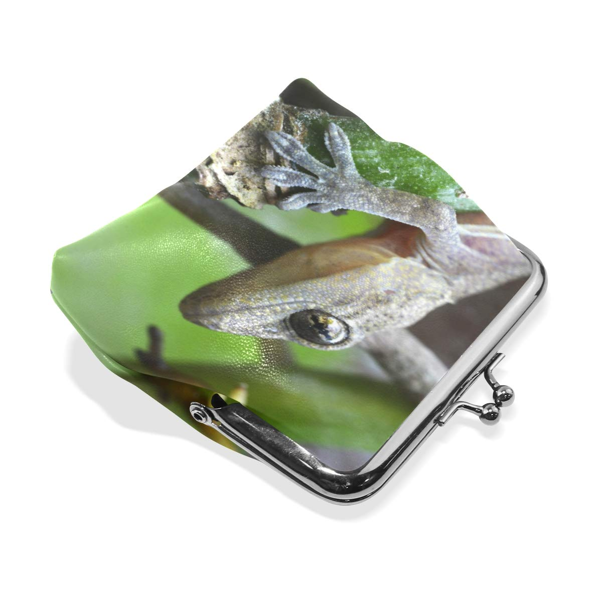CLveg PU Leather Coin Purse Card Package Small Wallet shopping series Gecko