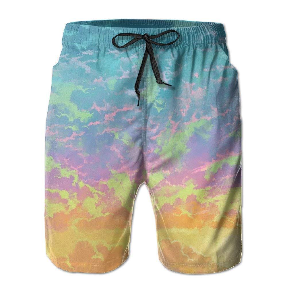Nice Sky Mens Swimwear Beach Short Gym Sports Yoga Sweatpants