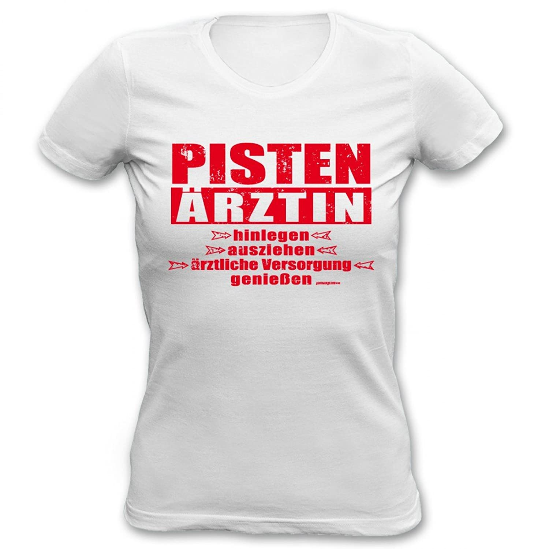 Cooles Mädchen Damen T-Shirt mit Spruch - Pisten Ärztin - geiles Aprés Ski Party Pisten Outfit oder Geschenk Shirt