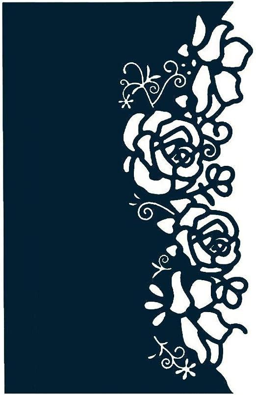 Metall Stencil Cutting Dies Rose Scrapbooking Stanzschablone DIY Dekoration Die