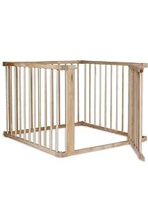 dibea Holz Laufstall für Babys Kleinkinder H 68 cm 270° klappbar M 6 Elemente