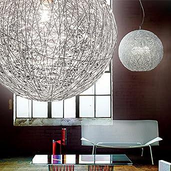 Mia Light Draht Kugel Hange Leuchte O400mm Modern Silber Alu