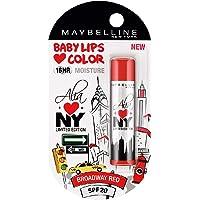 Maybelline Baby Lips Alia Loves New York, Broadway Red, 4g