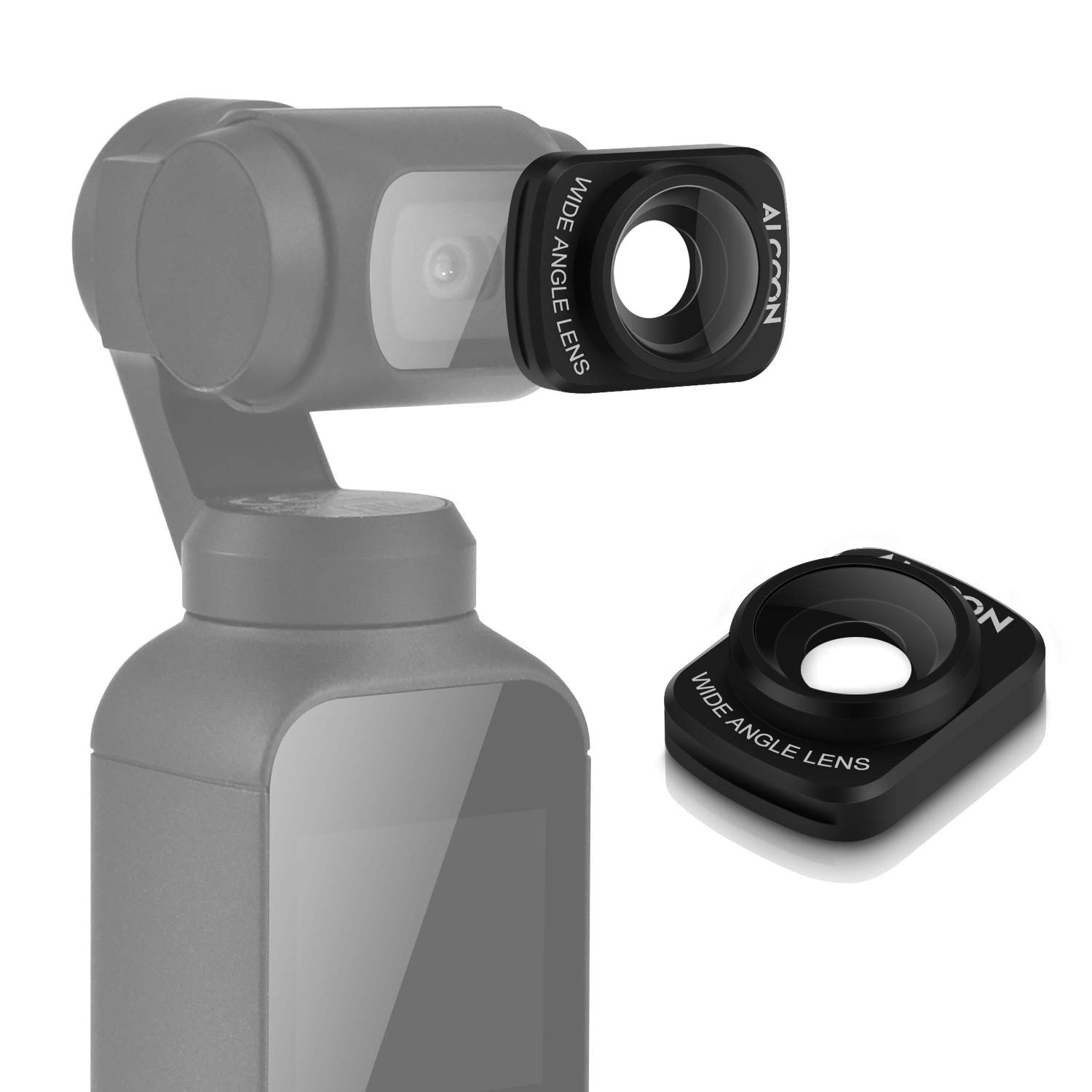 Alcoon Wide Angle Lens for DJI OSMO Pocket 18MM Magnetic Structure Design Wide-Angle Camera Lens Osmo Pocket Accessories by Alcoon
