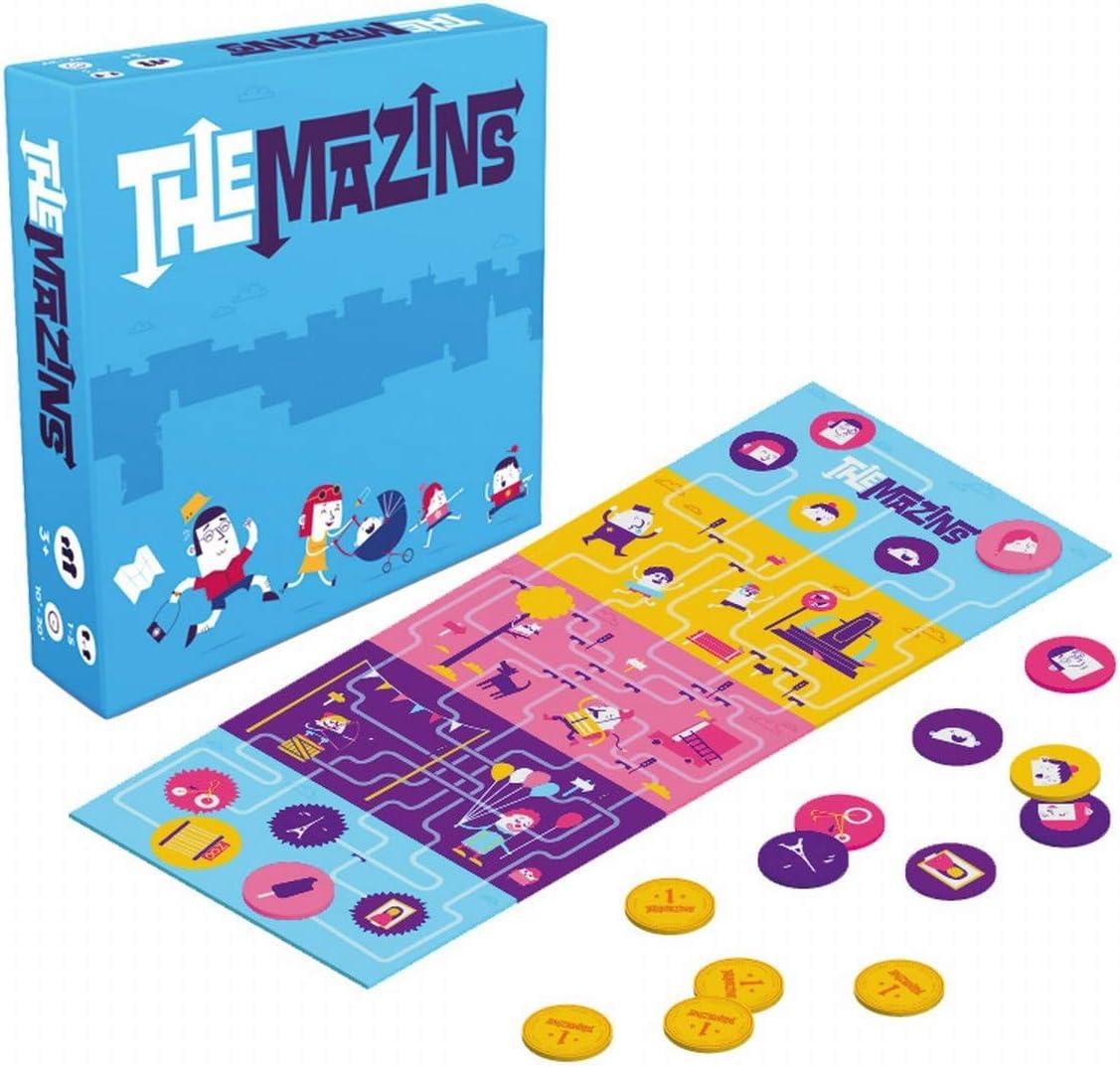 Helvetiq The MAZINS, Juego de Mesa para Toda la Familia, Dos Juegos en uno: Amazon.es: Juguetes y juegos