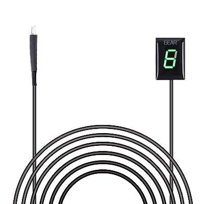IDEA Waterproof Motorcycle Gear Indicator Plug & Play LED Display for Kawasaki (Rectangle, Green): Automotive
