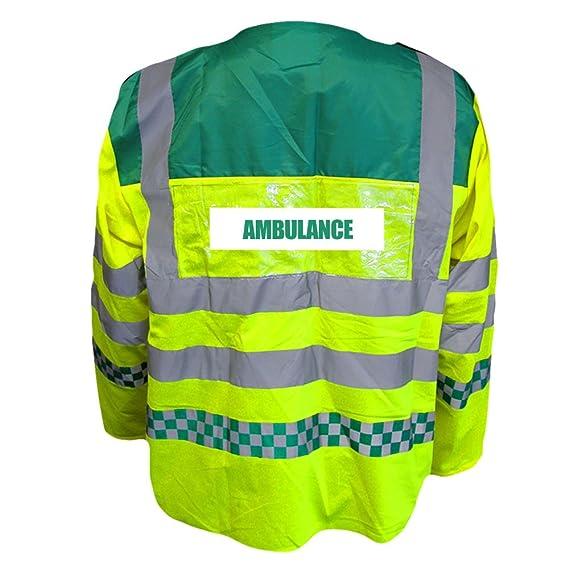Paramedic High Visibility Hi Vis Viz Parka Jacket with Ambulance Badges