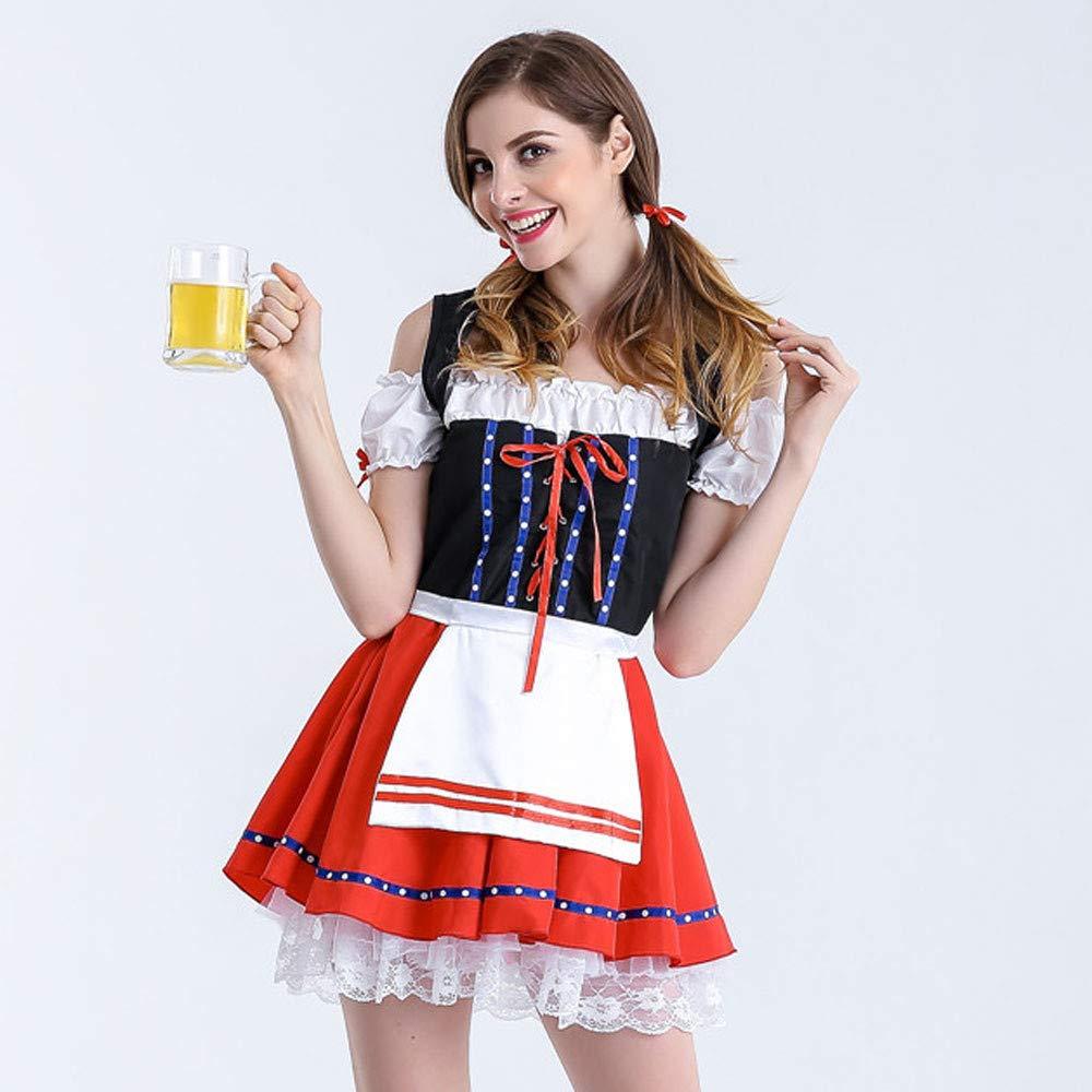 Amazon.com: QIBOOG - Disfraz de tirolesa alemana para mujer ...