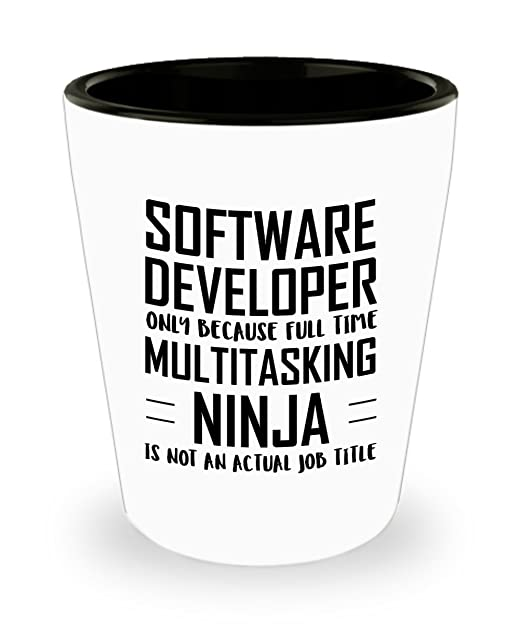 Amazon.com | Software developer Shot Glass - Full Time ...