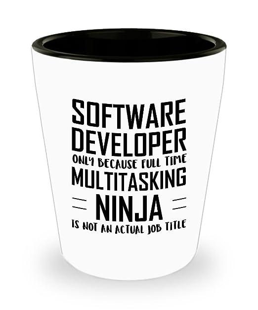 Amazon.com | Software developer Shot Glass - Full Time ...