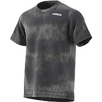 adidas Men's Fl Tcot Ss Aop T-Shirt, Grey (Grey Six), Large (DU1371)