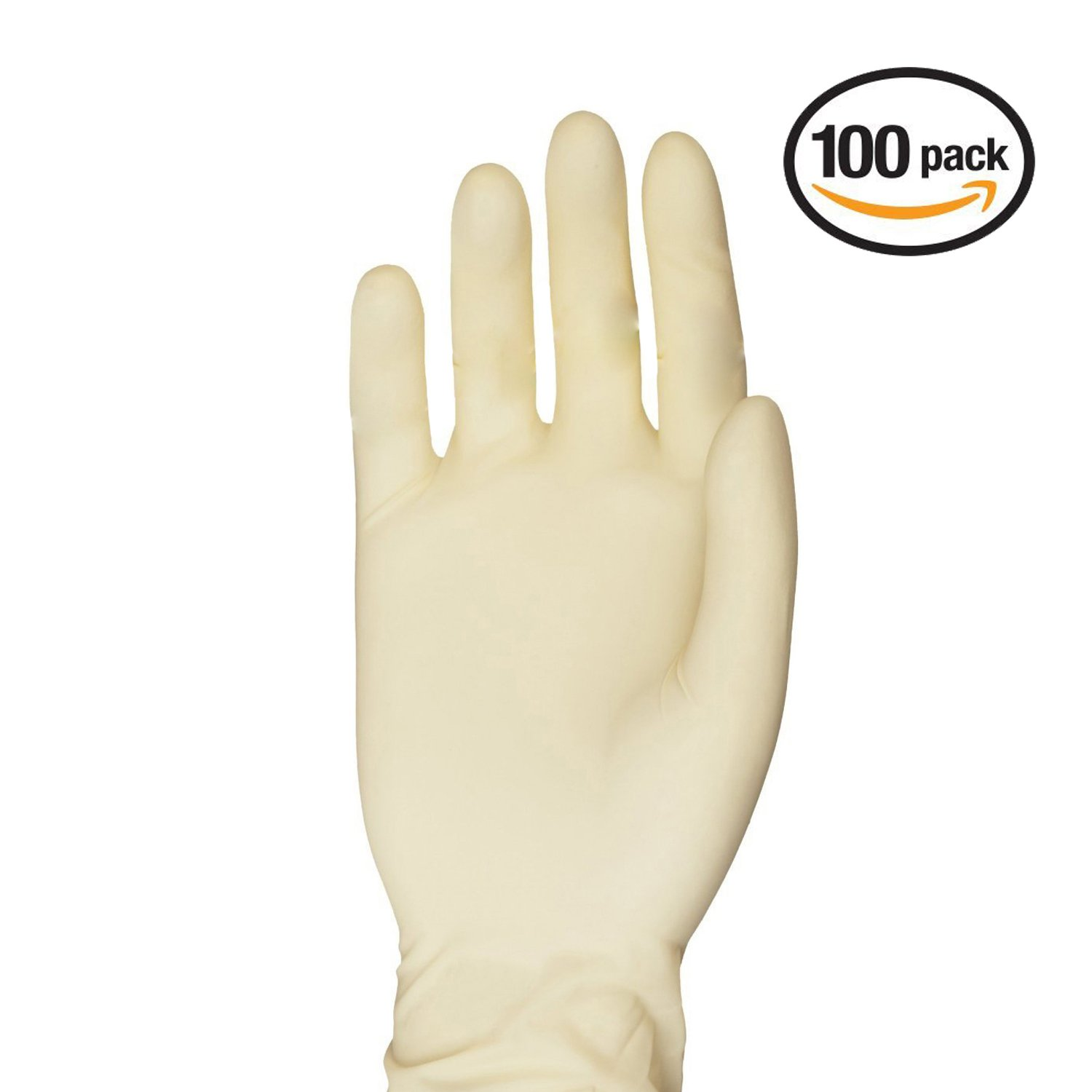 VIVID NuTouch Textured Premium Quality Latex Exam Gloves – Ambidextrous, Powder Free – Double Chlorinated – For Crafting, Medical Use, Home DIY, Pet Care, Box of 100, Size Large, NuTouch