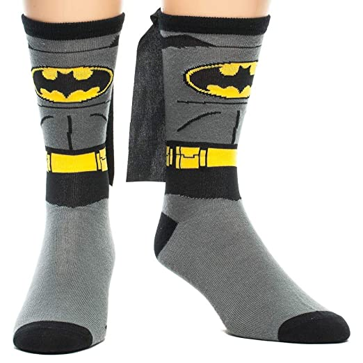 Amazon.com  Batman Cape Costume Crew Socks  Clothing 94012844e46f1