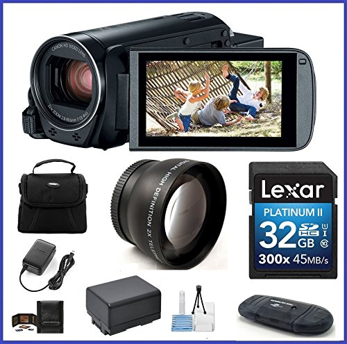 Canon VIXIA HF R800 Full HD Camcorder Bundle, includes: 32GB SDHC Memory Card, Telephoto Lens and more... by Canon