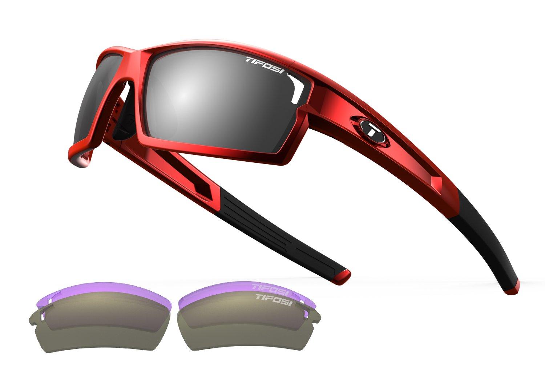Tifosi Golf Camrock Wrap Sunglasses, Metallic Red, 143 mm by Tifosi