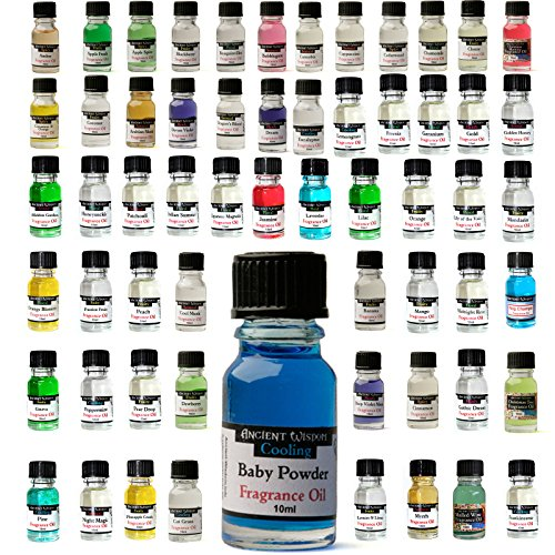 Essential Fragrance Oils - Economy Pack CANDY #2 - Apple Pie, Dark Chocolate, Ginger Bread, Toasted Marshmallow, Chocolate Orange - For Aromatherapy, Pot Pouri, Oil Burners and Bath/Massage