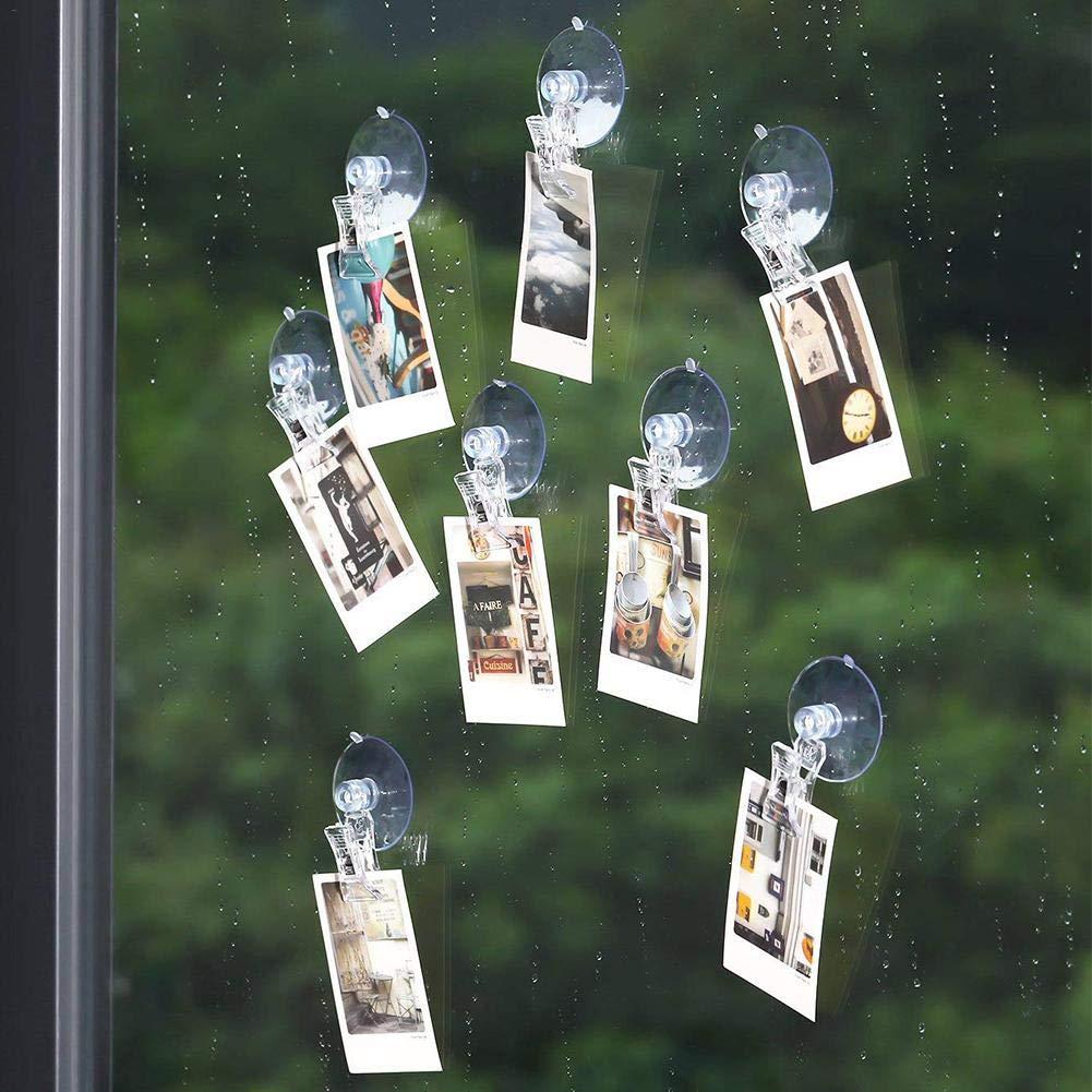 10 Pack 45 mm Saugnapf Clip Merchandise Zeichen Clips Werbung Pop Display Visitenkarten Halter Stand