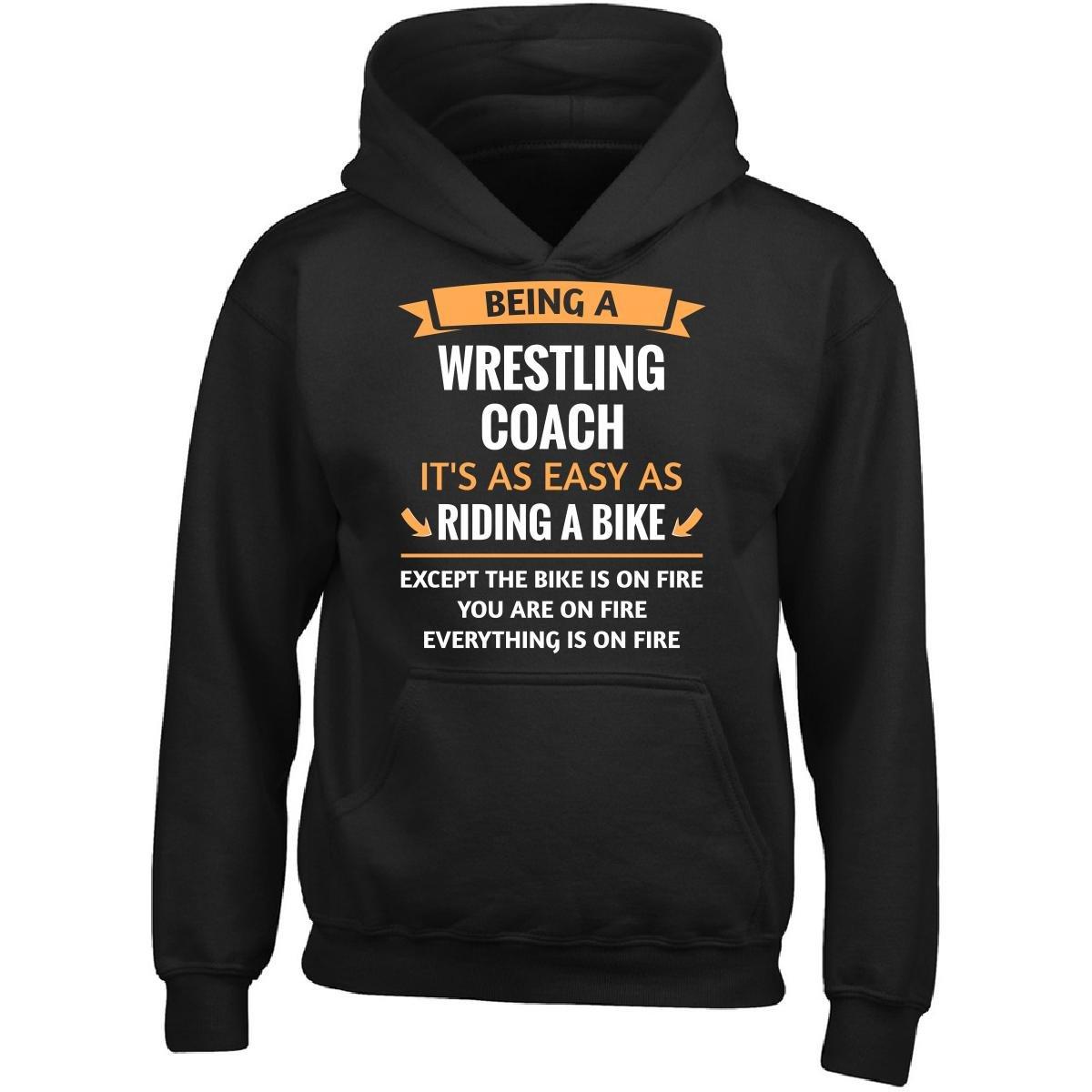 This Gift Rocks ! Funny Wrestling Coach Design Gift - Girl Girls Hoodie Kids L Black