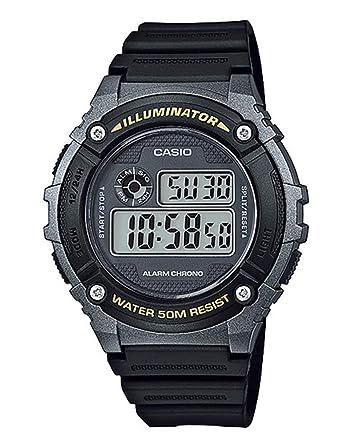 Casio Reloj Digital para Unisex de Cuarzo con Correa en Plástico W ...