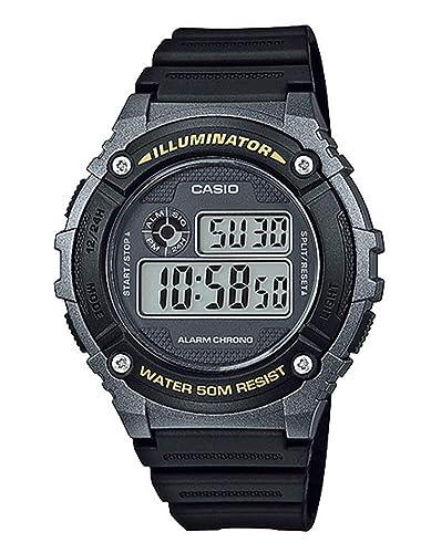 Casio Reloj Digital para Unisex de Cuarzo con Correa en Plástico W-216H-1BVEF: Amazon.es: Relojes