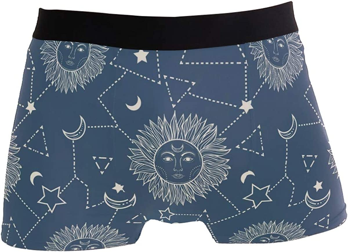 SUABO Mens 2-Pack Boxer Briefs Polyester Underwear Trunk Underwear with Happy Valentines Day Design