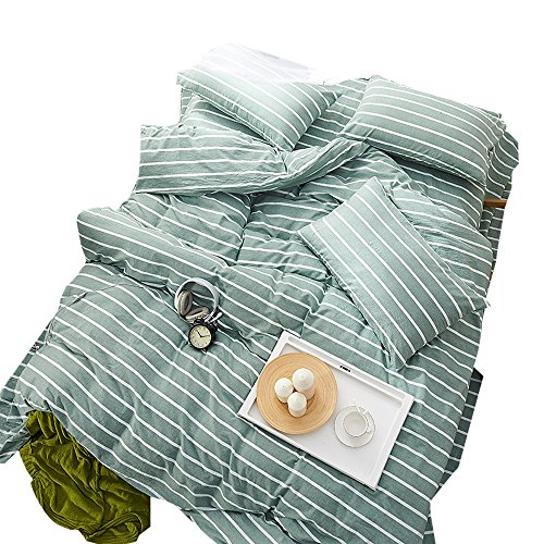 OTOB Reversible Striped Chambray Twin Duvet Cover Sets Washe