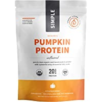 Sprout Living Simple Pumpkin Seed Protein Powder, 20 Grams Cold-Pressed Organic Plant Protein, Vegan, Gluten Free, No…
