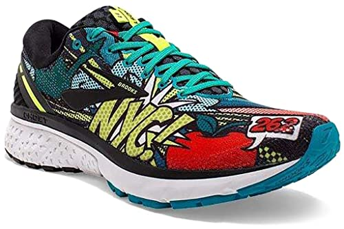 Brooks Ghost 11 NYC, Zapatillas de Running por Hombre, (Black/Green/Popart 041), 46.5 EU: Amazon.es: Zapatos y complementos