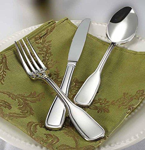Winco Oxford 3 Dozen Flatware Set, Extra Heavy 18-0 Stainless Steel Classic Old-Fashioned Dinner Spoons (Dozen Pack), Dinner Forks (Dozen Pack) and Dinner Knives (Dozen Pack), 36-Piece Set