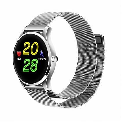 Reloj Inteligente Smartwatch Bluetooth Reloj Deportivo con Podómetro Inteligente,Sueño,Notificación de SMS,