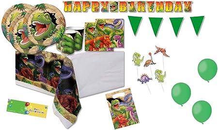 Creative Converting Kit N 40 - Juego de Mesa para cumpleaños, diseño de Dinosaurios: Amazon.es: Hogar